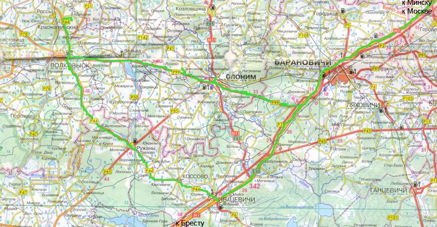 Карта Красносельские Меловые Карьеры